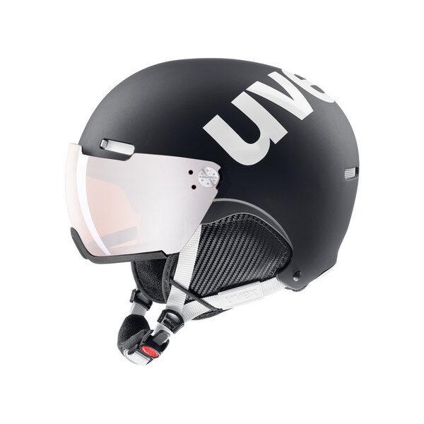 kask narciarski uvex hlmt 500 visor 2019 black-white mat