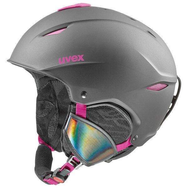kask narciarski uvex primo 2019 black pink mat