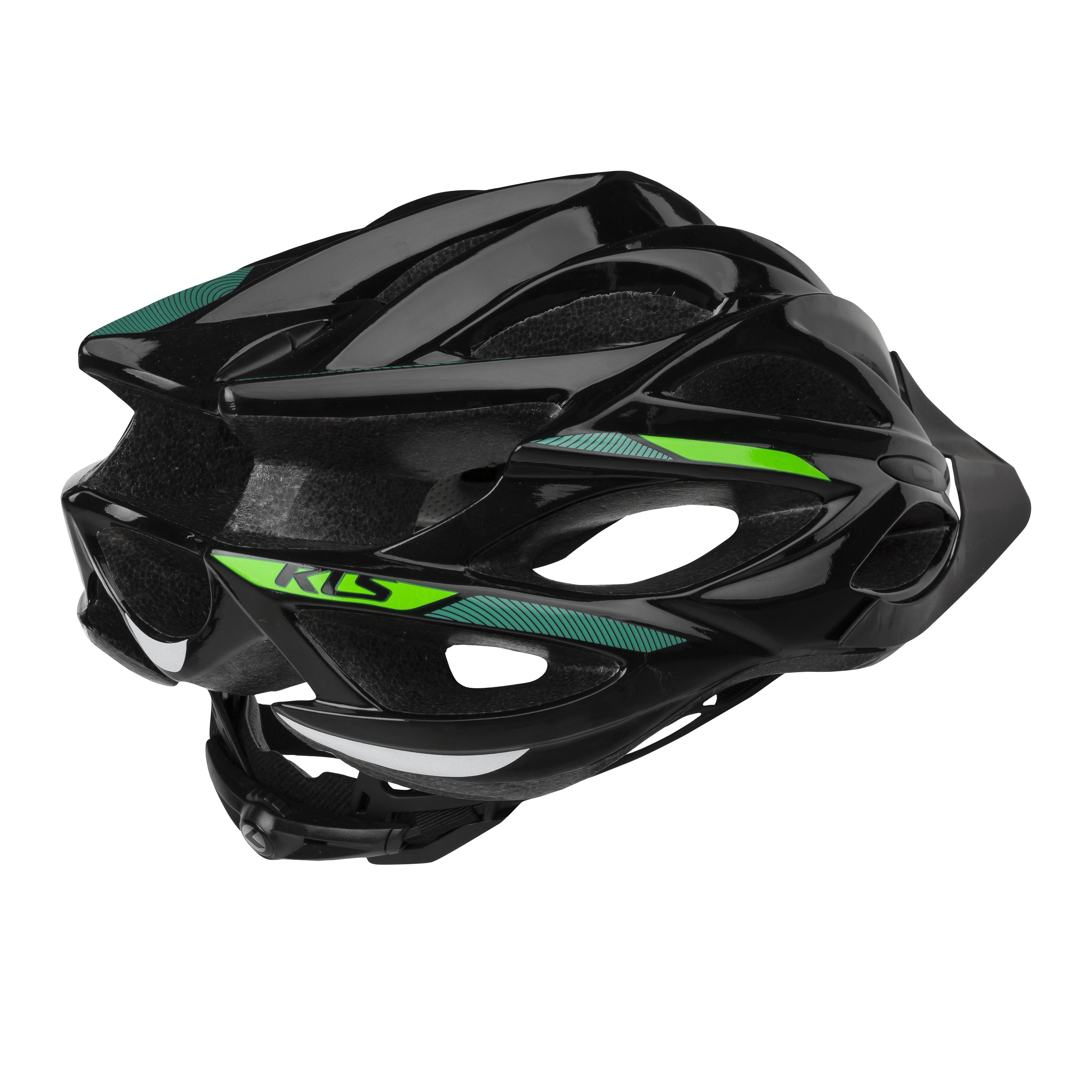 kask rowerowy kellys dynamic black green bck