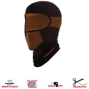 maska bezszwowa viking sigurd black orange