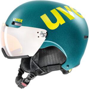 kask narciarski uvex hlmt 500 visor 2020 deep emerald mat