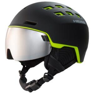 kask narciarski head radar black lime gogle