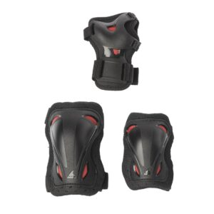 rolleblade skate gear junior 3 pack black red